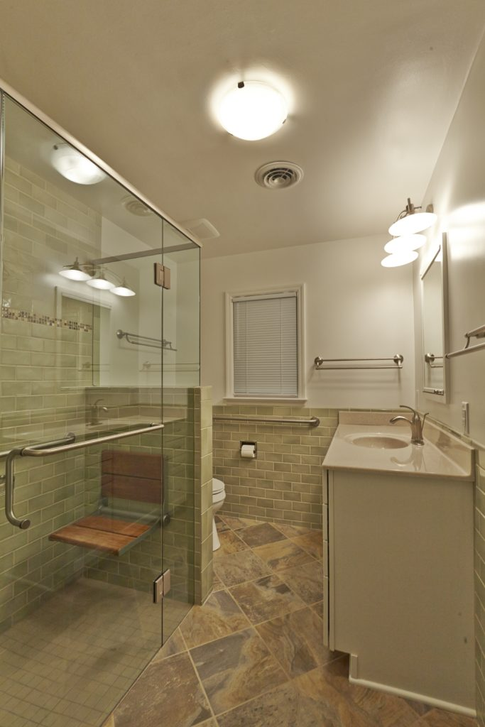 Christiansburg Bathroom Remodeling Contractor with new shower, flooring and cabinets