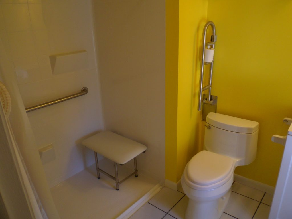 Radford Bathroom Remodeling Contractor with new easy access shower