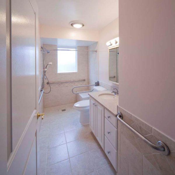 roanoke virginia aging in place custom bathroom pull down grab bar