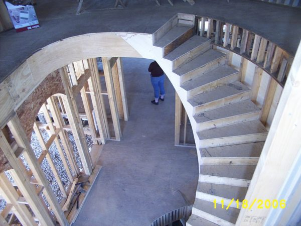 custom curved staircase new construction roanoke virginia