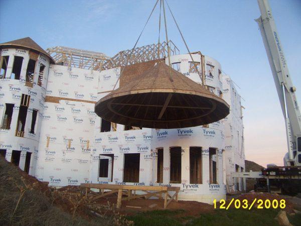 custom curved towers new construction salem virginia