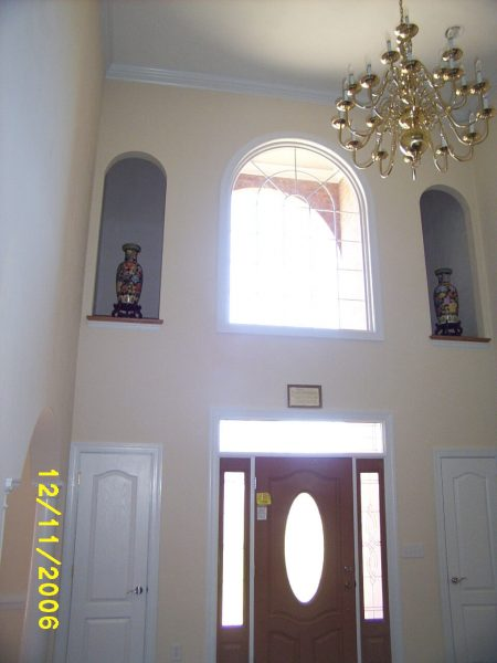 custom curved window new construction daleville virginia