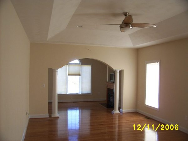custom ceiling archway new construction daleville virginia