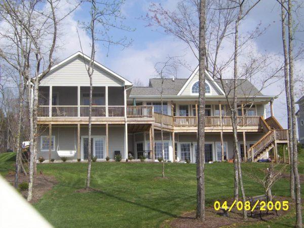 custom deck new construction smith mountain lake virginia