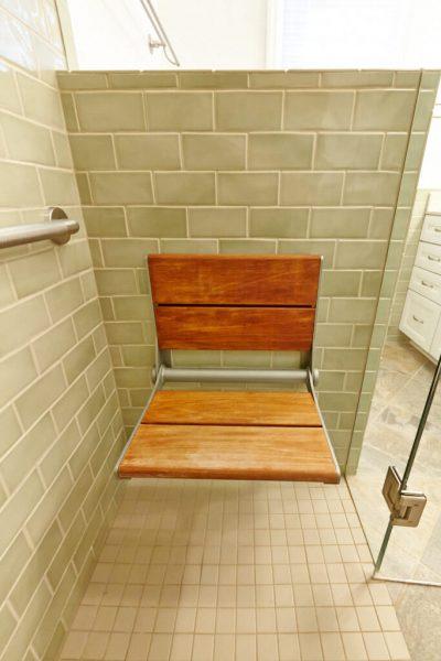 christiansburg virginia aging in place custom bathroom fold down bench