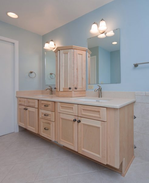 blue ridge virginia aging in place custom bathroom fold down grab bar curbless shower wheelchair accessible removable sink cabinet fronts roll under sink