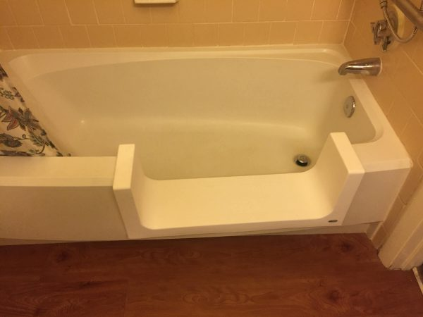 bathtub converted to step in shower