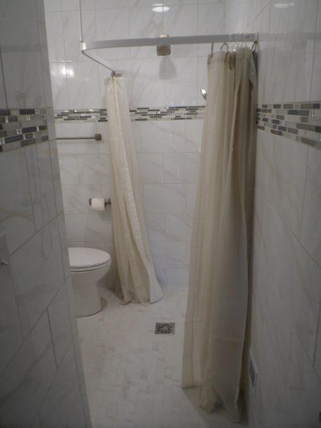 custom tile curbless shower aging in place bathroom in salem virginia