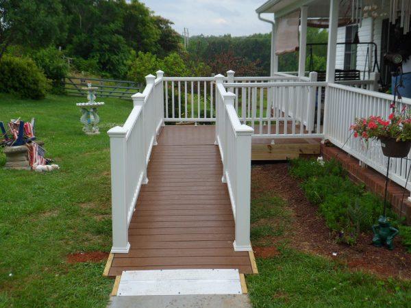 amherst virginia custom wood ramp veteran HISA grant