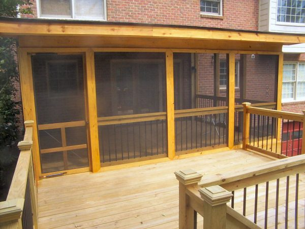 salem virginia custom screened porch deck