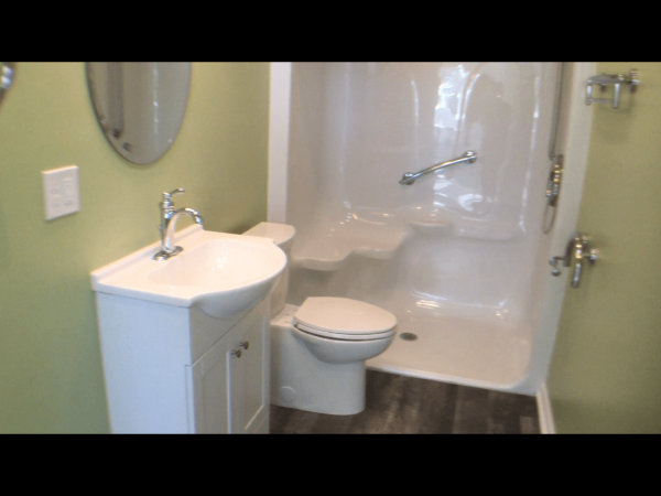 curbless shower aging in place addition mother-in-law suite christiansburg virginia