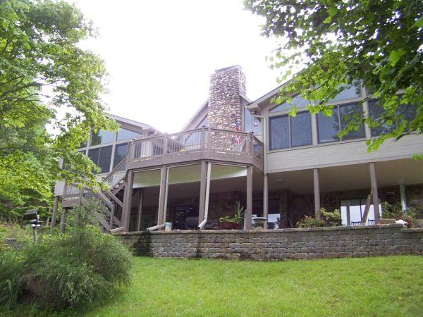 custom deck addition smith mountain lake, virginia