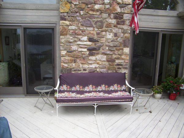 custom deck stone accent wall smith mountain lake virginia