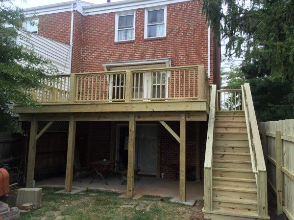 custom deck stairs roanoke virginia
