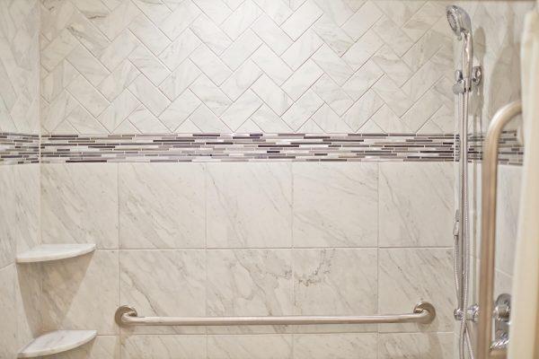 custom tile aging in place bathroom floyd virginia