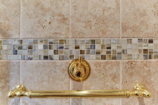 SAH veteran custom tile curbless shower grab bars wheelchair accessible bathroom roanoke virginia