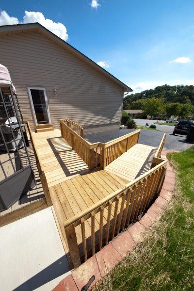 roanoke Virginia custom wood ramp veteran SAH Grant