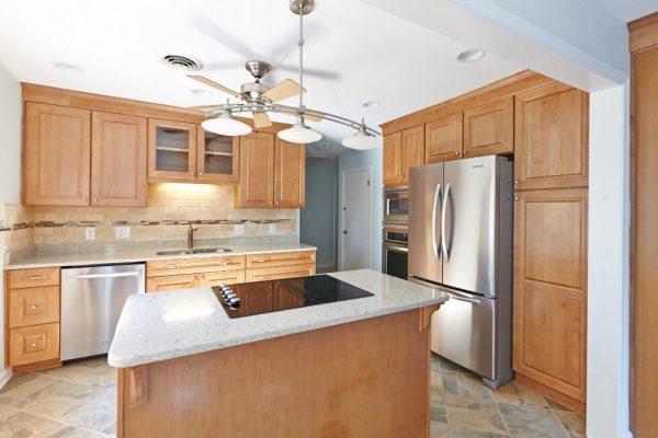 custom kitchen tile backsplash christiansburg virginia cooktop island