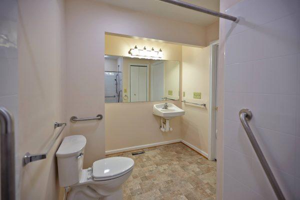 wheelchair accessible bathroom SAH veteran custom addition Lynchburg virginia