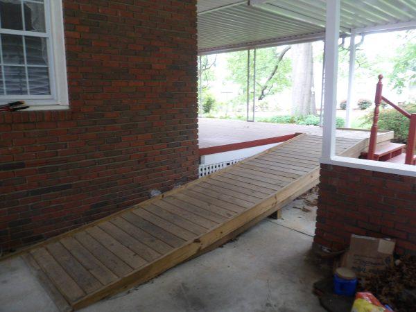 salem virginia custom wood ramp