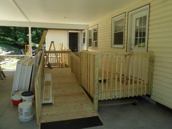 covington virginia custom wood ramp veteran