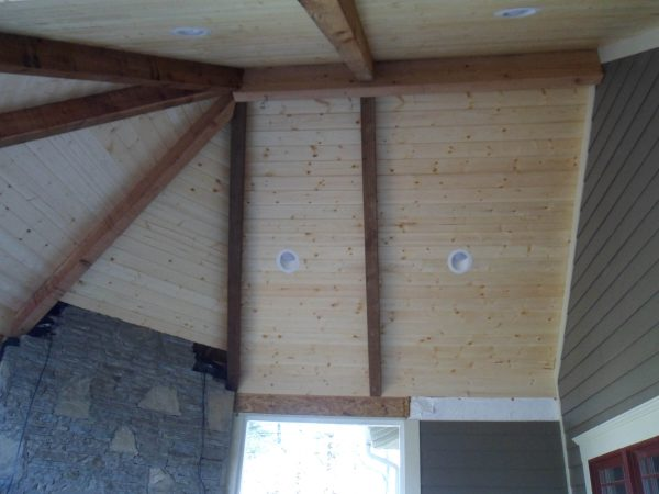 custom beamed porch ceiling roanoke virginia
