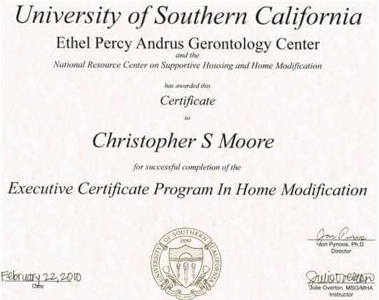 Executive Certificate - Solid Rock Enterprises