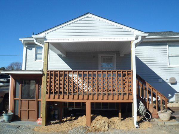 roanoke virginia custom covered porch
