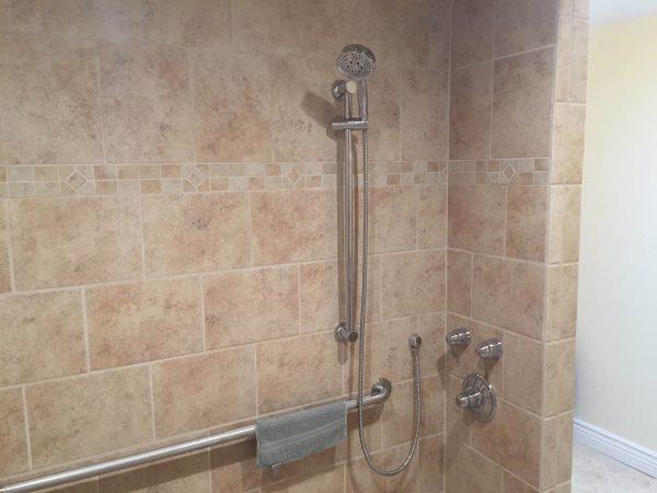 custom tile shower grab bars aging in place floyd virginia