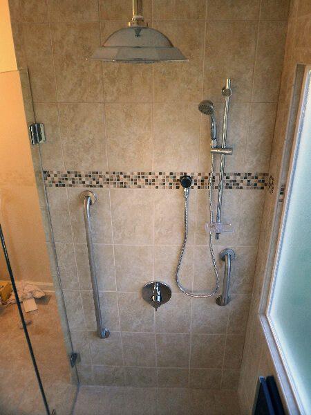 custom tiled curbless shower vinton virginia