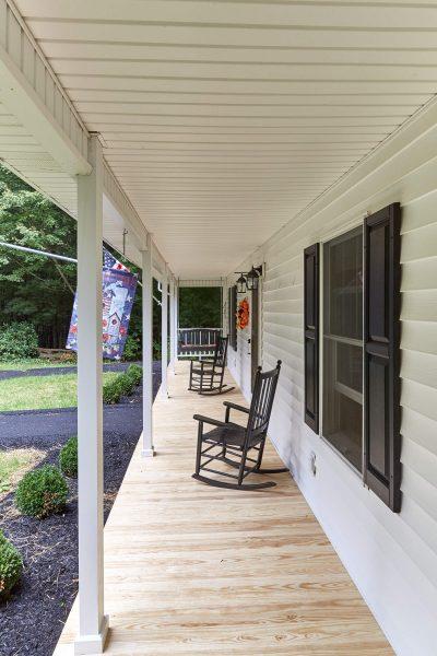 front porch with asphalt ramps veteran SAH grant Floyd virginia
