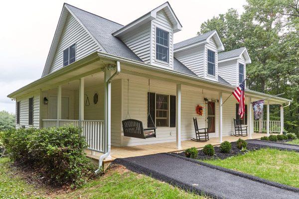 floyd virginia custom asphalt ramp covered porch swing SAH Grant Veteran