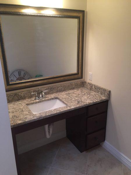 roll under sink wheelchair accessible aging in place bathroom floyd virginia